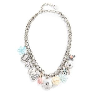 Dannijo charm silver metal necklace. NWT